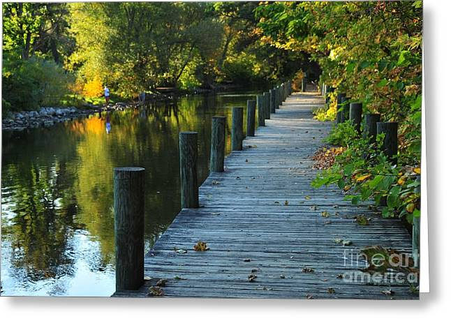 River Walk In Traverse City Michigan Greeting Card
