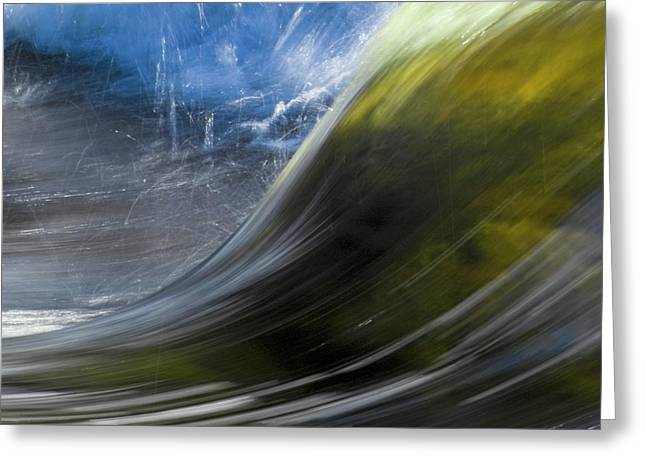 River Wave Greeting Card by Heiko Koehrer-Wagner