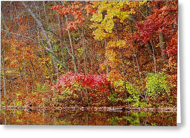 Riverbank Beauty Greeting Card by James Hammen
