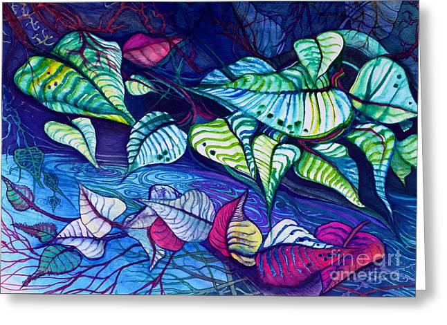 Riverbank Foliage Greeting Card