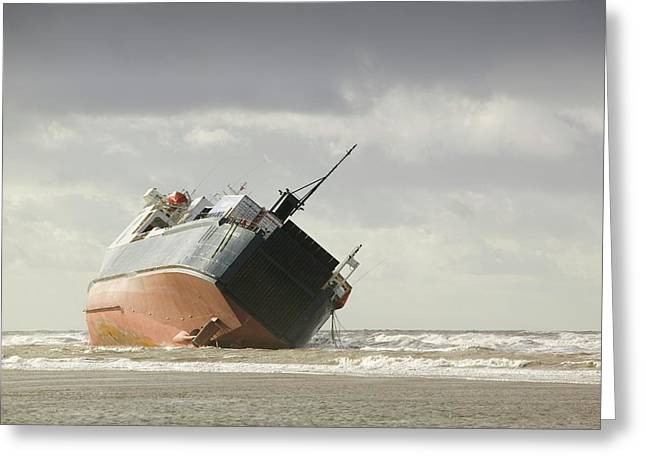 Riverdance Shipwreck Greeting Card by Ashley Cooper