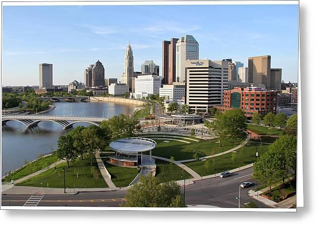 Riverfront Columbus Greeting Card