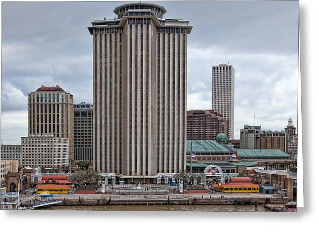 Riverfront Of New Orleans Greeting Card by Kay Pickens