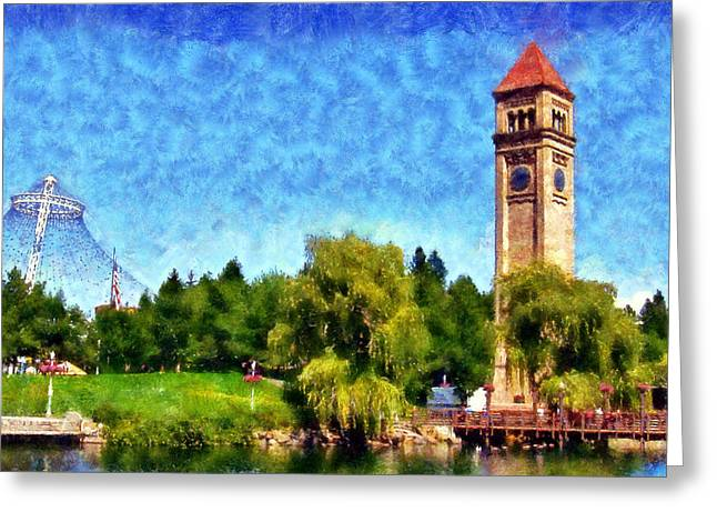 Riverfront Park Greeting Card