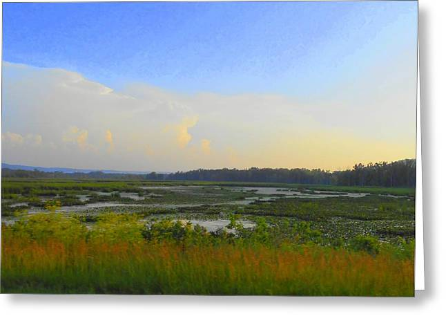 River's Dreamscape Greeting Card by Dina  Stillwell