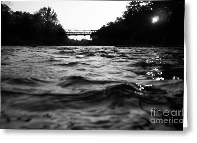 Greeting Card featuring the photograph Rivers Edge by Michael Krek