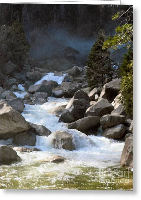 Rivers From The Mist Greeting Card by Audrey Van Tassell