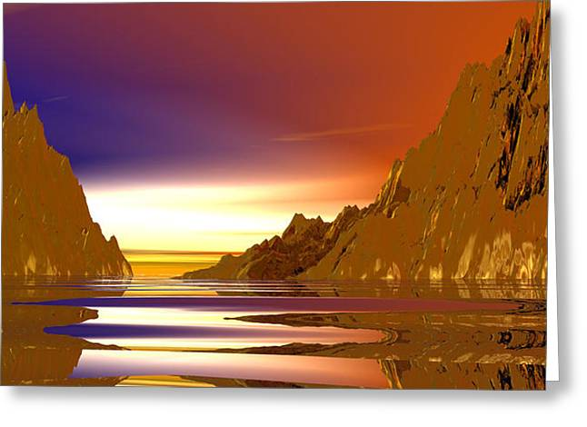 Rivers Of Gold Greeting Card by Wayne Bonney