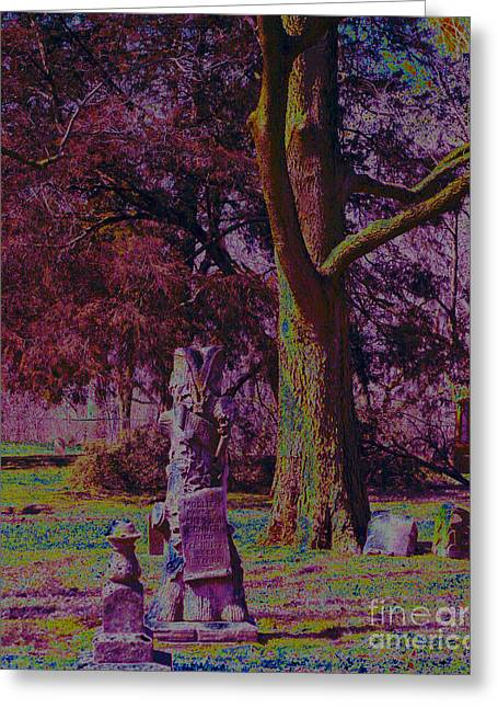 Riverside Cemetery 1 Greeting Card by Alys Caviness-Gober