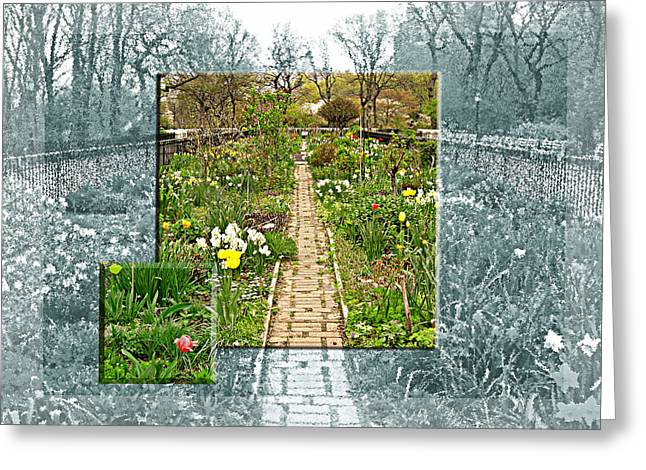 Greeting Card featuring the photograph Riverside Garden by Sarah McKoy
