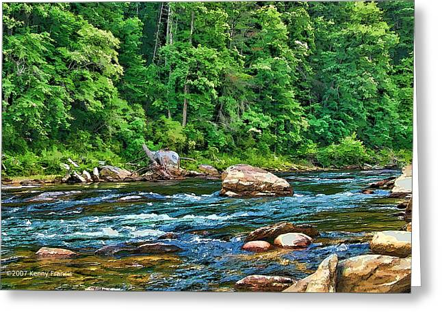 Riverview Greeting Card by Kenny Francis