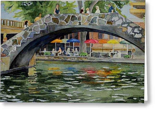 Riverwalk Bridge Greeting Card