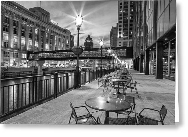 Riverwalk Seating Greeting Card