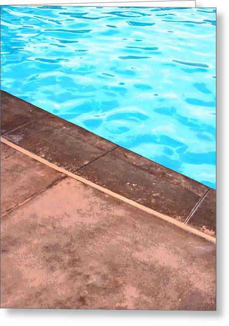 Riviera Pool Palm Springs Greeting Card by William Dey