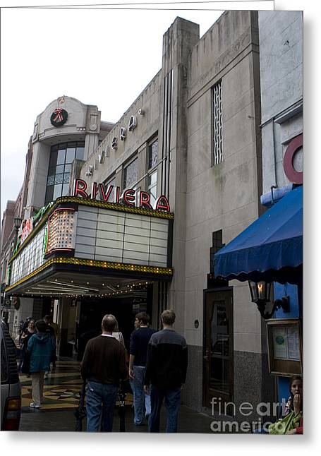 Riviera Theatre Charleston South Carolina Greeting Card