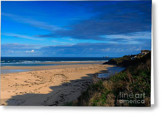 Riviere Sands Cornwall Greeting Card by Louise Heusinkveld