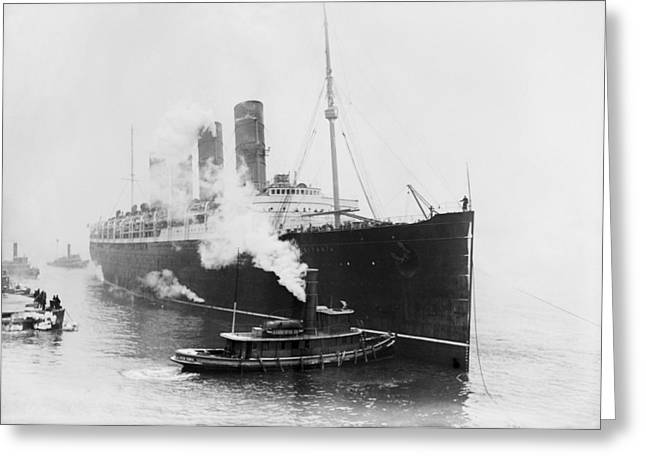 Rms Lusitania, 1914 Greeting Card by Science Photo Library
