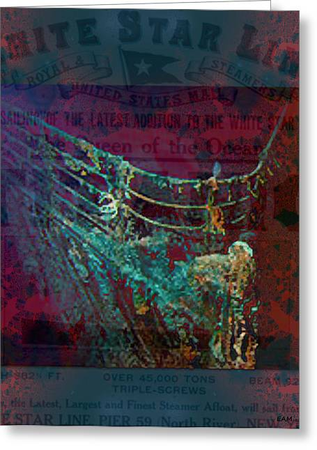 Rms Titanic Sinks  Greeting Card by Elizabeth McTaggart