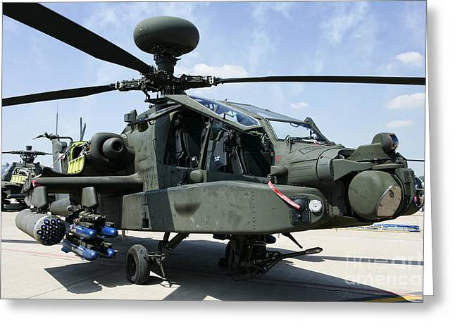 Rnlaf Apache Ah-64d Helicopter Gunship Greeting Card