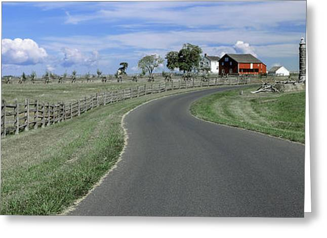 Road At Gettysburg National Military Greeting Card by Panoramic Images