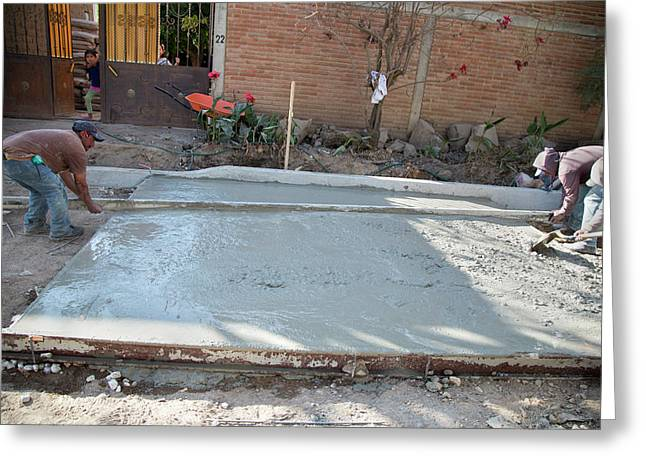 Road-building In Mexico Greeting Card by Jim West