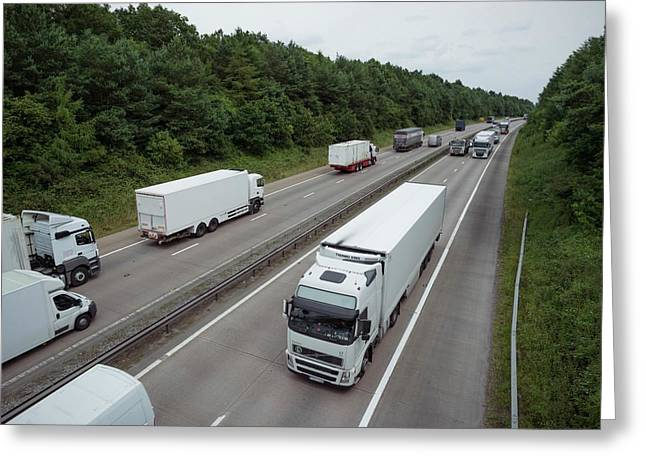 Road Freight Greeting Card by Robert Brook