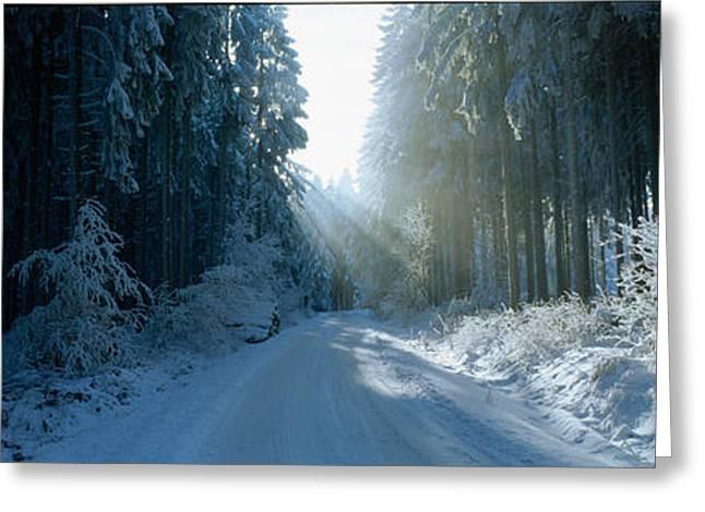 Road, Hochwald, Germany Greeting Card