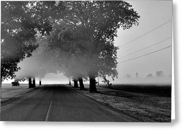 Road Into Morning Mist - Canada Greeting Card