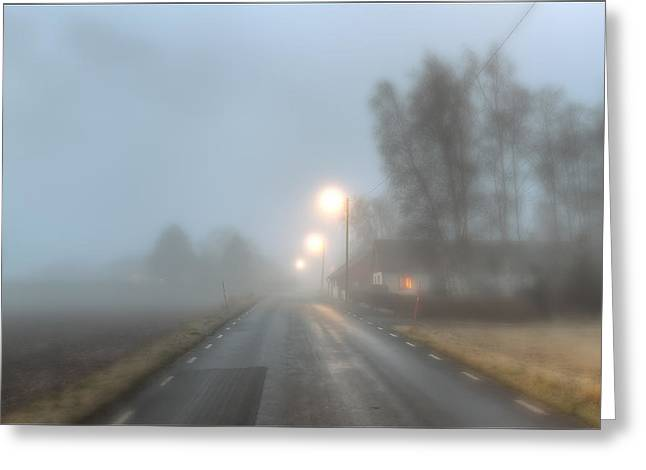 Road Into The Fog Greeting Card by EXparte SE