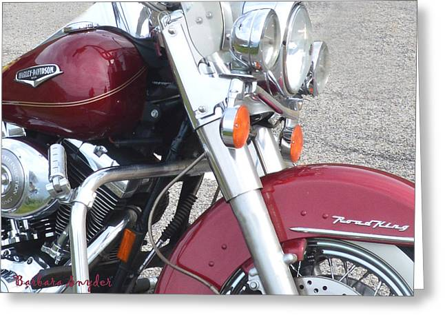 Road King Greeting Card by Barbara Snyder