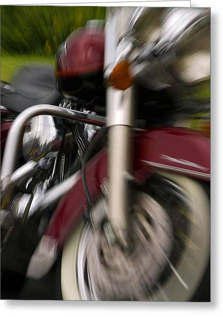 Road King Greeting Card by Timothy McIntyre