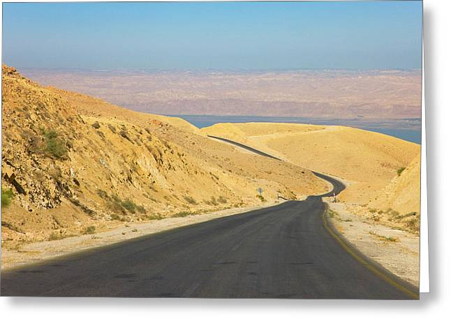 Road Leading To The Dead Sea, Jordan Greeting Card by Keren Su