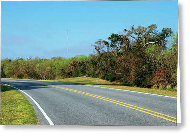 Road Leading Towards A Lighthouse, Cape Greeting Card by Panoramic Images