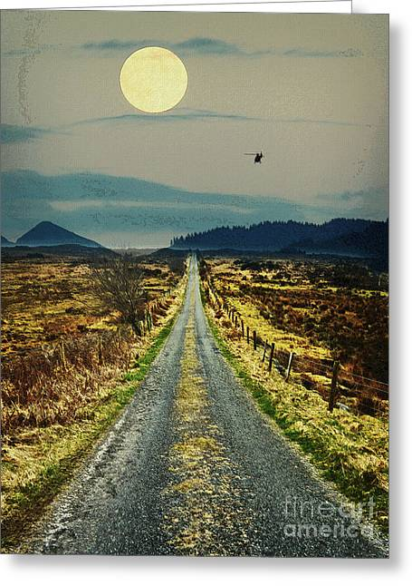 Road Less Traveled  Greeting Card by Celestial Images