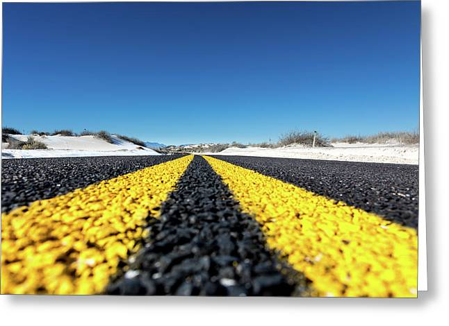 Road Markings On Asphalt Greeting Card by Wladimir Bulgar