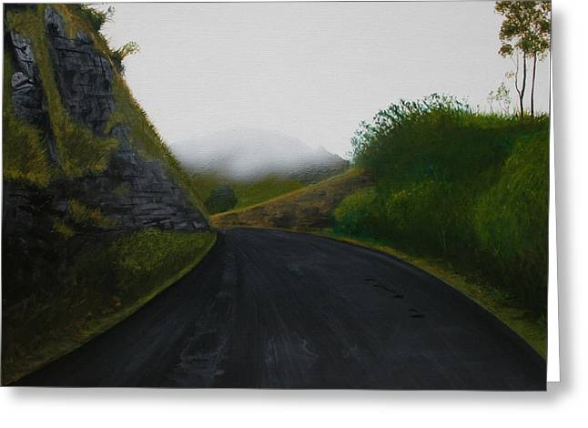 Greeting Card featuring the painting Road Near Gresford Nsw by Tim Mullaney