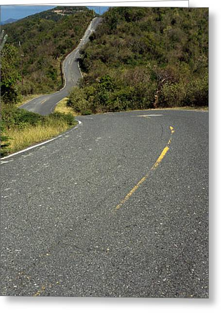 Road Passing Through A Landscape, U.s Greeting Card by Panoramic Images
