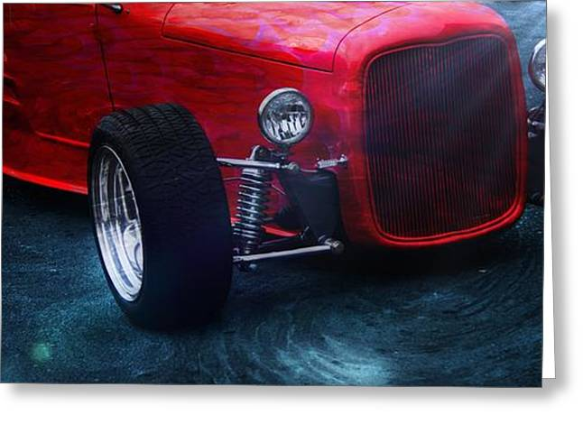 Vehicles Greeting Card featuring the photograph Road Rod  by Aaron Berg