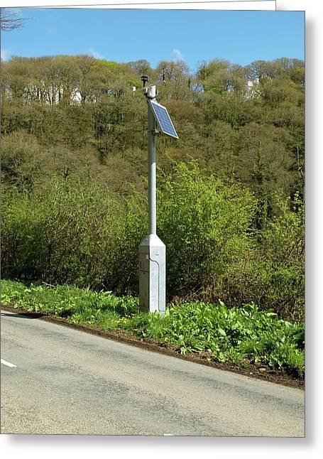 Road Sensor Greeting Card by David Aubrey