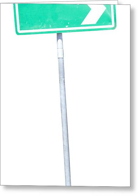 Road Sign Greeting Card by Jorgo Photography - Wall Art Gallery