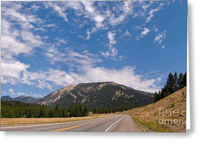 Road To Big Sky Country Greeting Card by Charles Kozierok