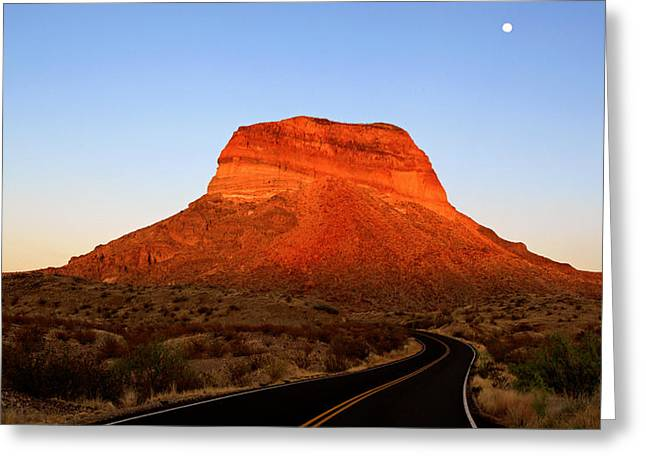 Road To Cerro Castellan Greeting Card