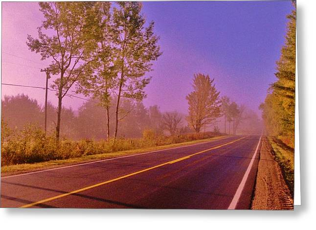 Greeting Card featuring the photograph Road To... by Daniel Thompson