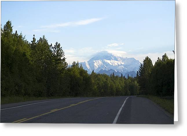 Road To Denali  Greeting Card