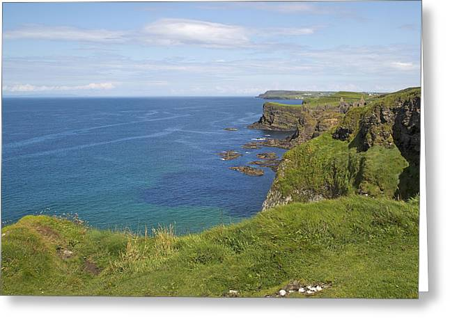 Road To Dunluce Ireland Greeting Card by Betsy Knapp