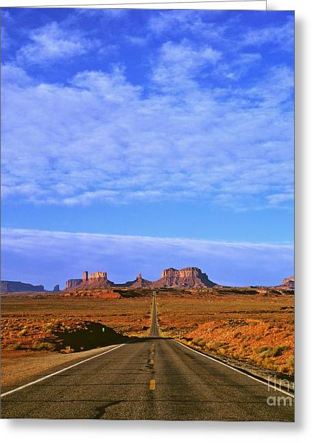 Road To Monument Valley Greeting Card by Alex Cassels