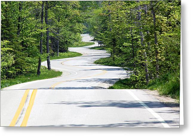 Road To Northport Greeting Card by Kathy Weigman