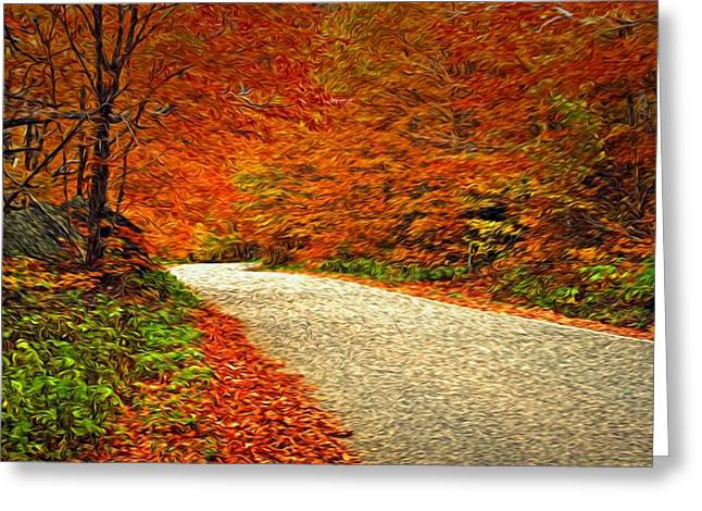 Road To Nowhere Greeting Card by Bill Howard