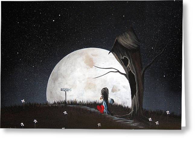 Surreal Art Prints By Erback Greeting Card by Shawna Erback