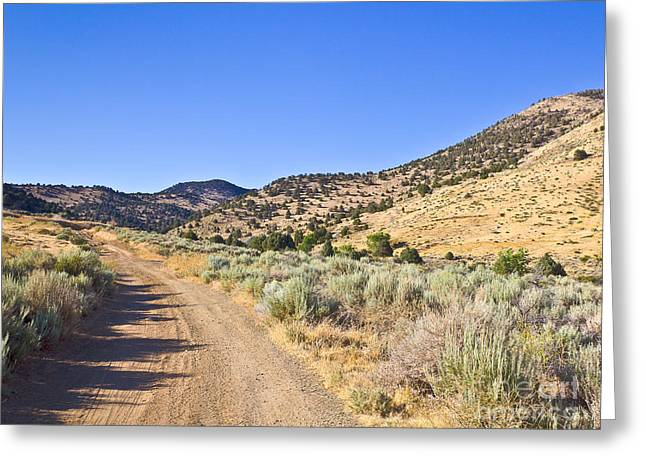 Road To Nowhere - Storey Nevada Greeting Card